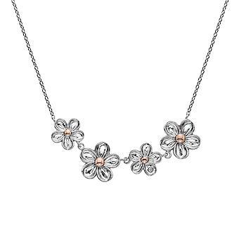 Hete diamanten sterling zilver Vergeet me niet ketting DN140