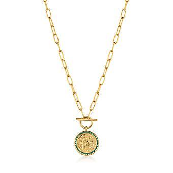 Ania Haie Gold Bagger glänzend Gold Kaiser T-Bar Halskette N020-05G