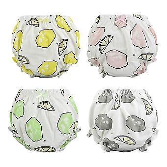 4 kpl /erä Puuvilla Vastasyntyneiden harjoitushousut, Vauvan alusvaatteet - Pikkulasten pikkuhousut