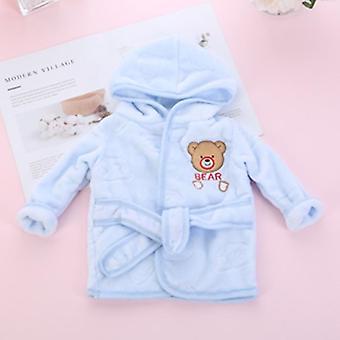"Children""s Robe Flannel Baby Bathrobe Long Sleeve Hooded Bath Robe Animal"