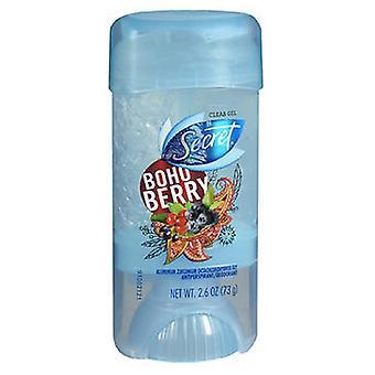 Secret Scent Expressions Antiperspirant - Deodorant Clear Gel Boho Berry, 2.6 Oz