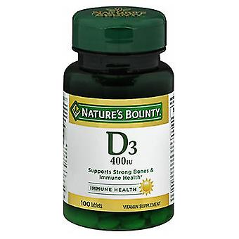Nature's Bounty Natures Bounty Vitamin D, 400 IU, 100 tabs