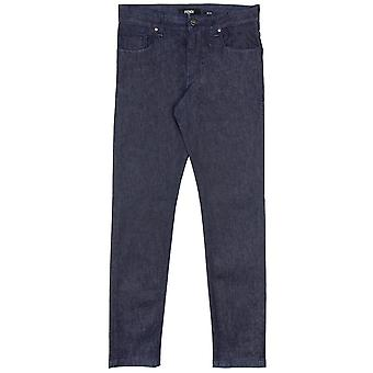 Fendi Effect Lasered FF Logo Jeans DonkerBlauw