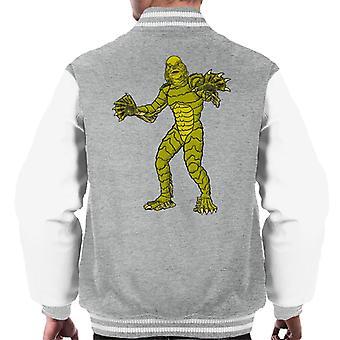 A Criatura da Lagoa Negra Ilustração do Corpo Inteiro Men'Jaqueta Varsity