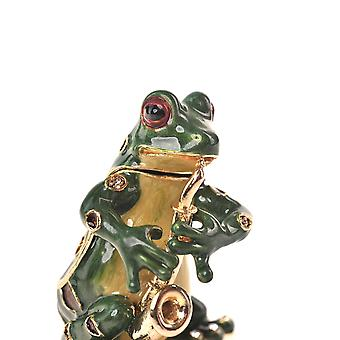 Frog Playing The Saxophone - Jewelry Holder