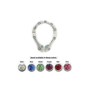 Nipple shield snake with cz jewels - 6 colors available