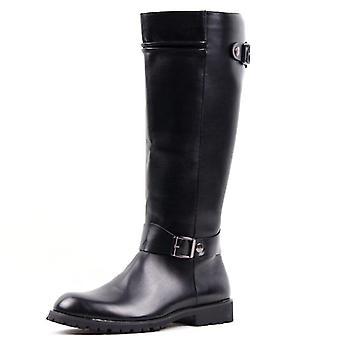 בציר קלאסי עור רכיבה על סוסים מרטין מגפיים, גברים נעלי נשים