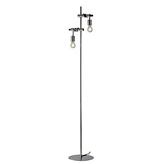 Fan Europe Admiral - Twin Light Cable Floor Lamp, Chrome, Black, E27