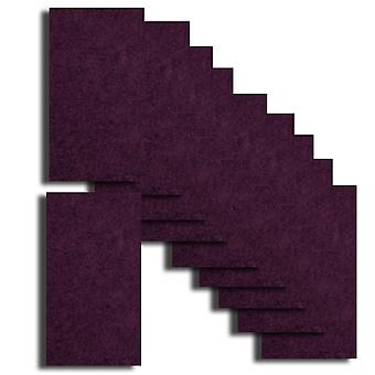10 Nightclub Purple Card Inserts 180 x 128