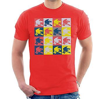 Sonic The Hedgehog Multicoloured Silhouettes Men's T-Shirt