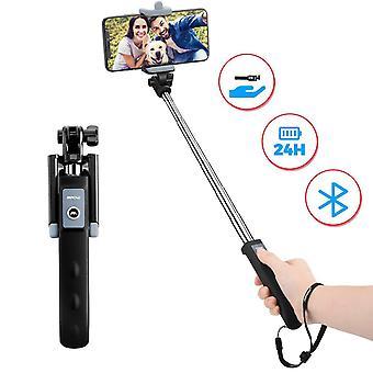 Selfie stick Bluetooth, supporto per telefono con morsetto monopiede estendibile mpow con telecomando wireless per il viaggio f