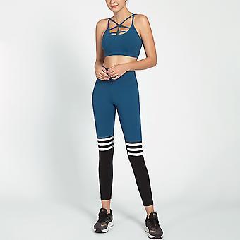 Ladies Slim Yoga Fitness Costume de sport rayé YJ042