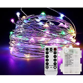 Led Fairy String Lights With Battery Remote Timer Control Operated Waterproof
