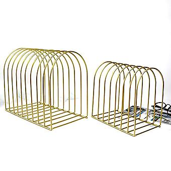 Simple File Organizer Wrought Iron Book Stand/storage Folding, Stationery