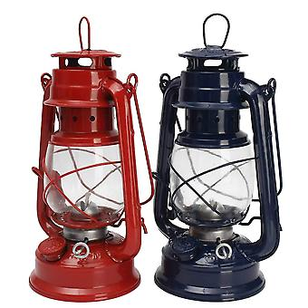 Outdoor Camping Kerosene Lamp Oil Light Lantern Style Decor Multifunction Iron