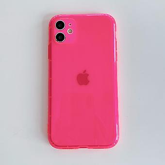 Neon Fluorescente Solid Color Phone Case para iphone Soft Clear Back Cover