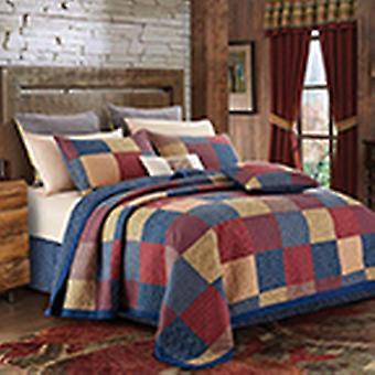 Spura Home Patriotic Charm Size Patchwork Quilt Set