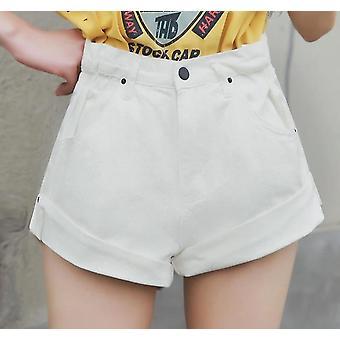 Summer Vintage- High Waist, Denim Jeans Shorts