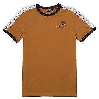 Sergio Tacchini Mens Dalhoa T-Shirt Casual Lounge Top Brown 38357 800