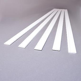 """Dolls House White Skirting Board 17.3/4 X 1/8"""" Coving 450mm X 15mm Pack Of 5"""