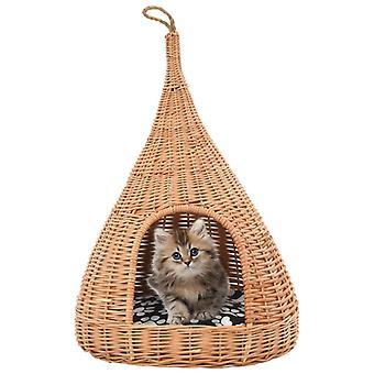 vidaXL macskaház párnával 40 x 60 cm természetes legelő tipi