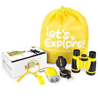Odkryty zestaw do eksploracji - prezenty zabawki dla 3-12 lat chłopców dziewcząt, przygoda explorer zabawki set-bino