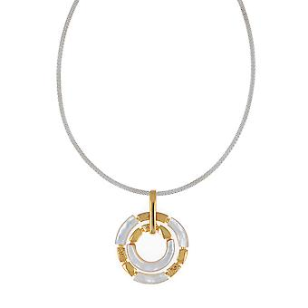 Collana in madreperla bianca placcata in argento argento sterling 925 (id 5246)
