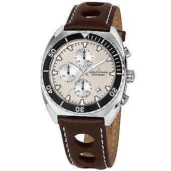 Reloj de hombre Jacques Lemans 1-2041D, cuarzo, 40 mm, 10ATM