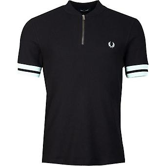 Fred Perry Authentics Tipped Cuff Zip Neck Polo Shirt