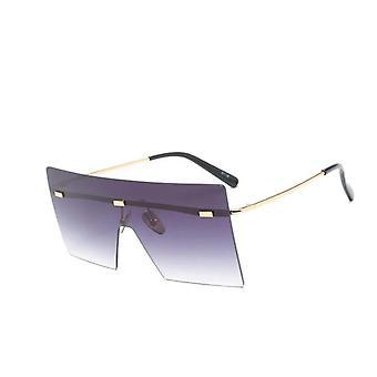 Retro Vintage, rimless Brillen Sonnenbrille