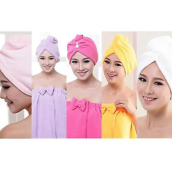 Bath Hair Dry Hat Shower Cap Soft Strong Water Absorbing Dry Head Diffuser