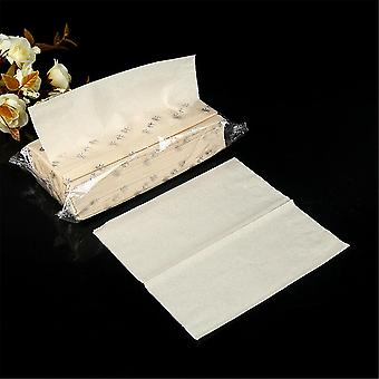 1 Bag Toilet Paper 2 Layers Natural Bamboo Pulp Disposable Dry Wipes Tissue