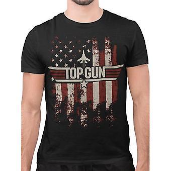 Top Gun Unisex Adult Flag T-Shirt