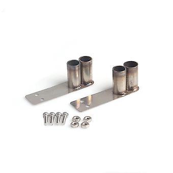 1ペアダブル排気管金属テール排気管シミュレーションパーツモデル