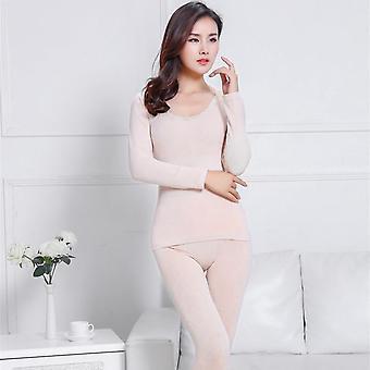Termálne spodné prádlo Sada Zimné oblečenie Teplý oblek Nohavice s dlhým rukávom Spodná bielizeň