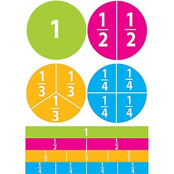 Aimants math die-cut, fractions de début