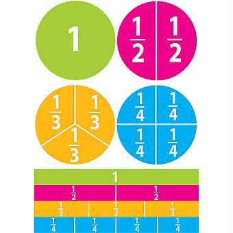 Math Die-Cut Magnets, Beginning Fractions