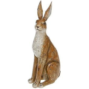 Large Country Brown Sitting Hare Ornament