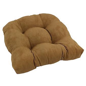 Cojín de silla de comedor con micro ante en forma de U de 19 pulgadas - Camello