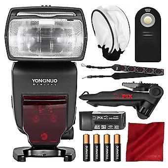Yongnuo yn685 wireless ttl speedlite for canon cameras with flash diffuser, came