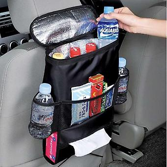 Voedingsfles cover thermische tas multifunctionele autostoel organisator (zwart)