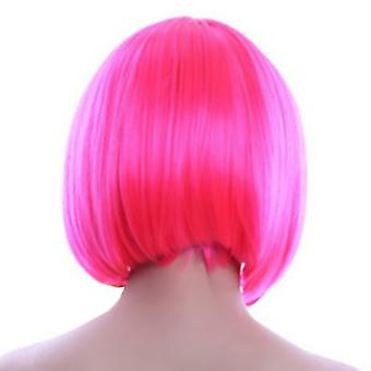 Bobo Hair Cap Wig Anime Pink Cosplay