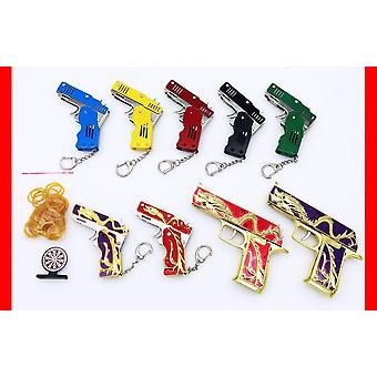 Mini Folding Outdoor Tool Cartoon Folding Rubber Band Gun Five Claw Golden