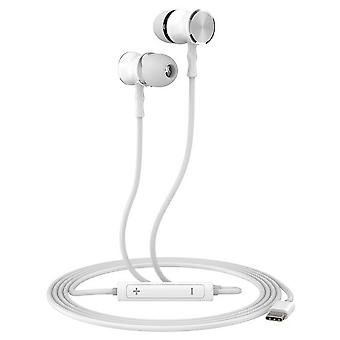 KSIX Small C USB-C Earbuds White