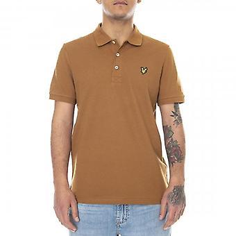Lyle & Scott Plain Polo Shirt Tawny Brown SP400VOG