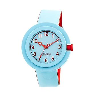 Crayo Equinox Cerulean Blue Dial Cerulean Blue Rubber Watch CRACR2805