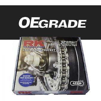 Комплект стандартной цепи и звездочки RK подходит для Yamaha TW125 03-04