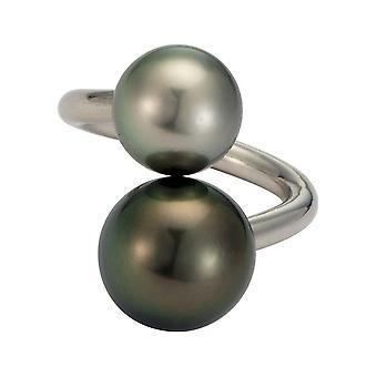 Adriana Pearl Ring Women's Ring Tahiti Black 13-14 mm Silver Grey 11-12 mm Silver I42