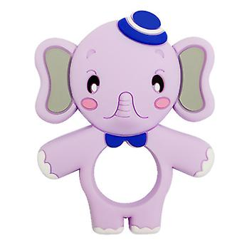 Silicone Elephant shape teether For Toddlers, baby molar stick toy