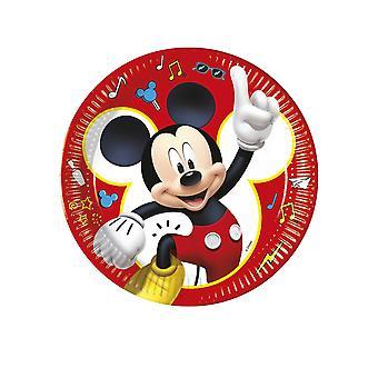 8 Assiettes en carton Mickey copains de jeux 23 cm